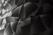 Black White Abstract Design Paper Wrap Material Vintage Retro Decor Texture Background Detail Photo