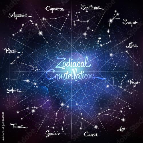 Zodiacal constellations Cancer Pisces Aquarius Capricorn Sagittarius