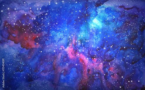 niebieski-wszechswiat-przestrzen-streszczenie-tlo-akwarela-ilustracja