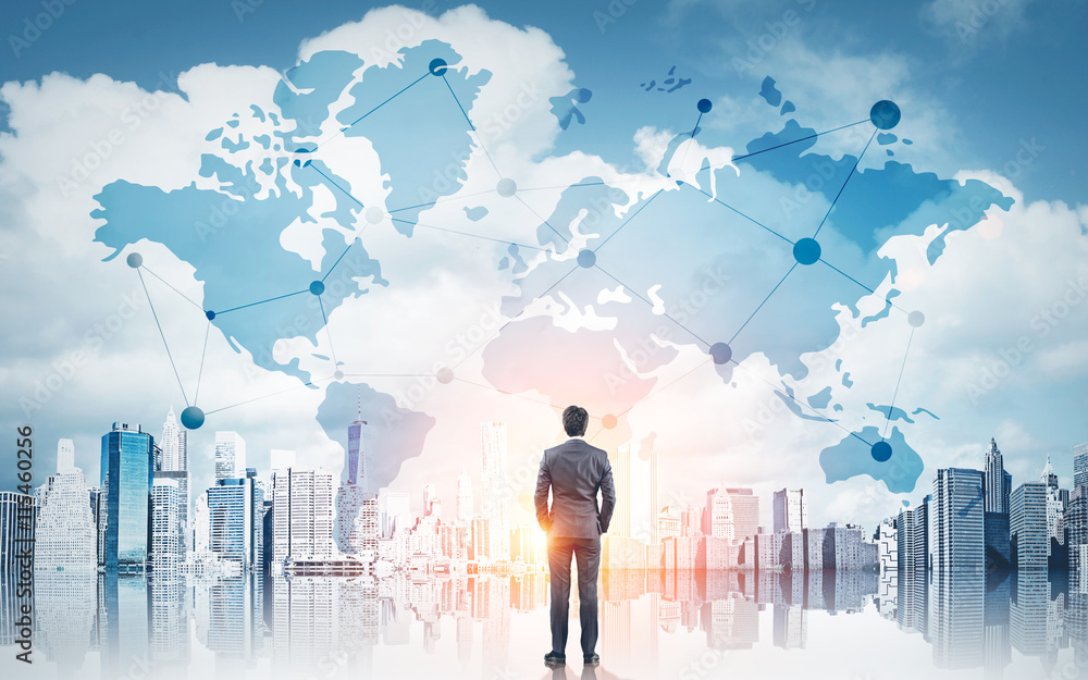 Fototapeta International business concept