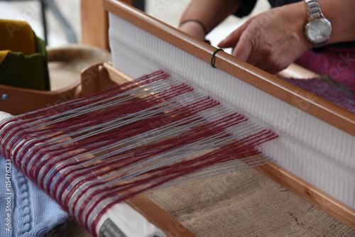 sarta fare la maglia telaio sciarpa tappeti tessere lana ...