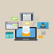 Technology services illustration. Internet services illustration.