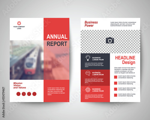 Obraz red flyer a4 template - fototapety do salonu