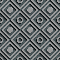 FototapetaSeamless Square and Circle Pattern