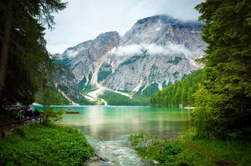 Lake of Braies, Trentino, Italy