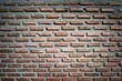 Leinwandbild Motiv Red old worn brick wall texture background. Vintage effect.