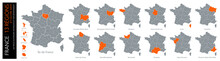 Carte De France / 13 Régions ...