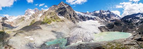 Foto op Canvas Gletsjers Alta Valmalenco (IT) - Vista aerea del ghiacciaio di Fellaria - luglio 2016