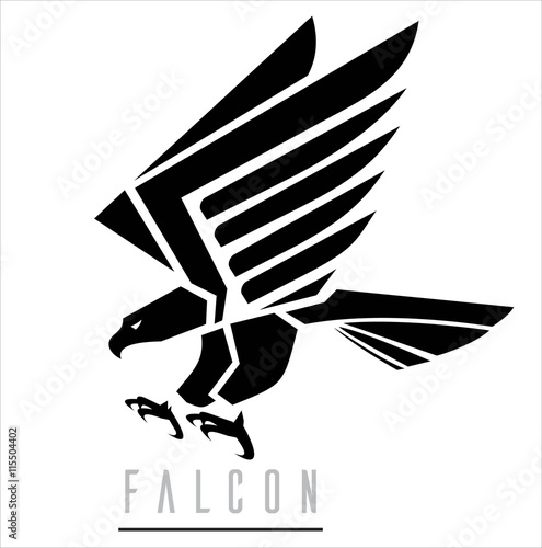 Black Falcon.Attacking Falcon. Poster