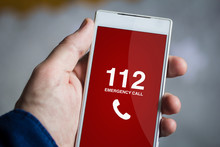 Holding Emergency Call Smartphone