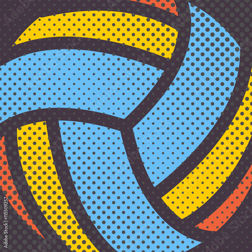 mata magnetyczna Sports background, vector illustration.