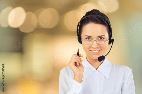 Call Center. Fototapete