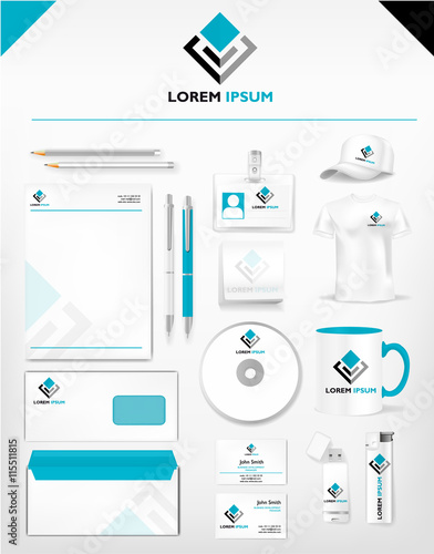 Corporate identity template realistic cup business card corporate identity template realistic cup business card letterhead envelope usb stick friedricerecipe Image collections