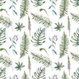 Tropikalny liść akwarela bezszwowe wzór - 115513806