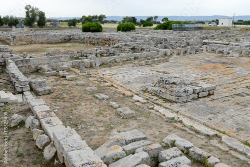 Poster Ruine Ancient Roman ruins of Egnazia on Puglia