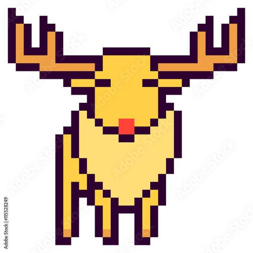 Photo Stands Pixel illustration design pixel art deer