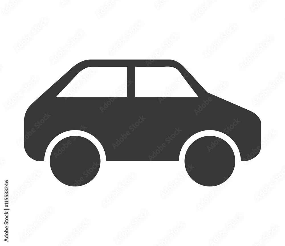 Fototapeta car vehicle isolated icon design