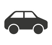 Car Vehicle Isolated Icon Design