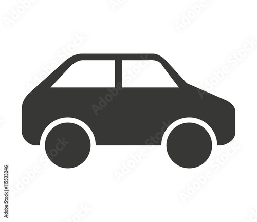 Tuinposter Cartoon cars car vehicle isolated icon design