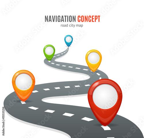 Fotografia Navigation Concept. Vector