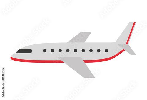 projekt sylwetka na białym tle ikona samolotu