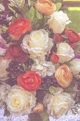 Naklejka Vintage flower background