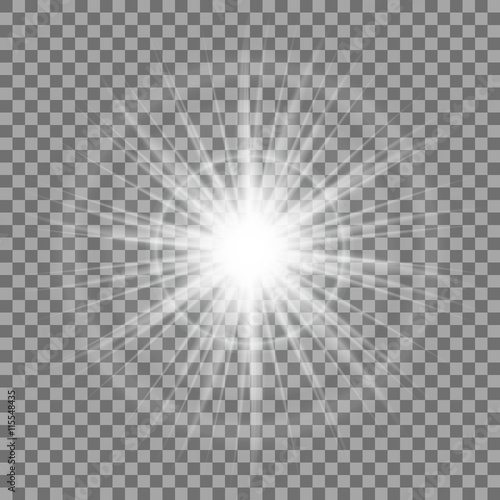 Fotografía  Glowing light sparkle on transparent background