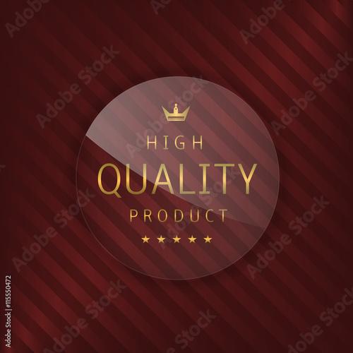 Fotografie, Obraz  High quality glass label