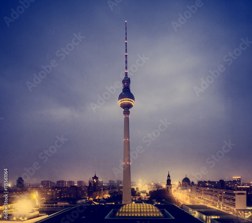 Foto op Aluminium Berlijn Germany, Berlin, View of TV tower