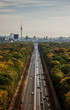 Germany, Berlin, Tiergatan, Aerial view of road traffic