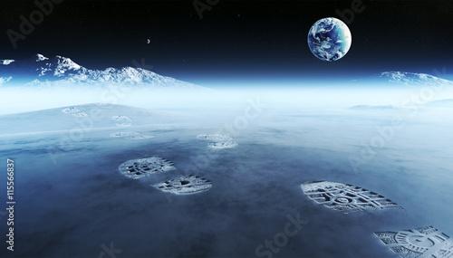 Valokuva  Footprints on alien planet