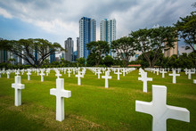 Graves And Modern Buildings In...