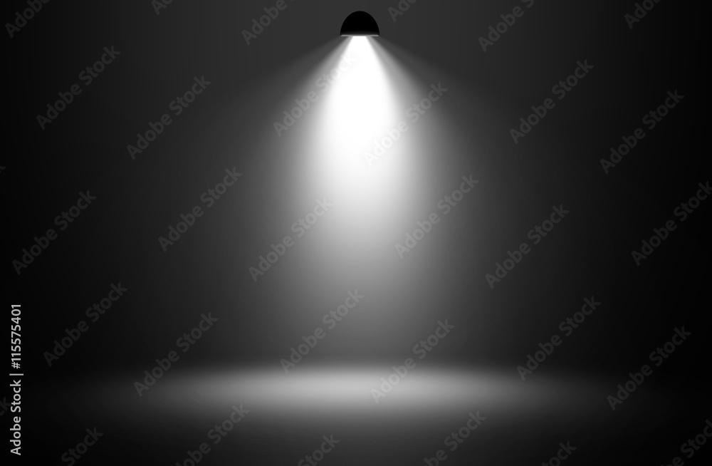 Fototapety, obrazy: White spotlight design background.