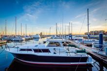 Boats Docked In A Marina In Ca...