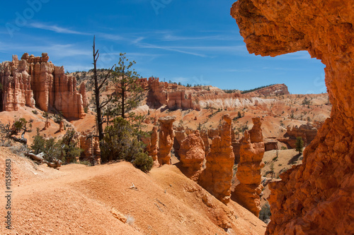 Hiking within Bryce Canyon National Park with all of its amazing landscapes Canvas-taulu