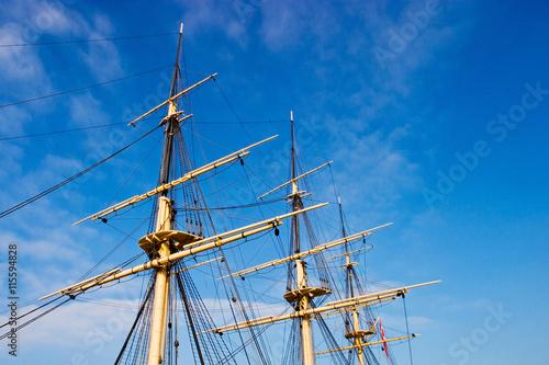 Valokuva  Rigg on a old ship