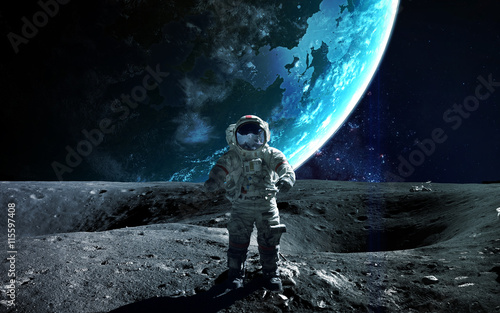 Astronaut in outer space. S...