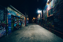 Graffiti Alley At Night, In Th...