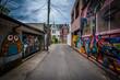 Graffiti in an alley in West Queen West, in Toronto, Ontario.