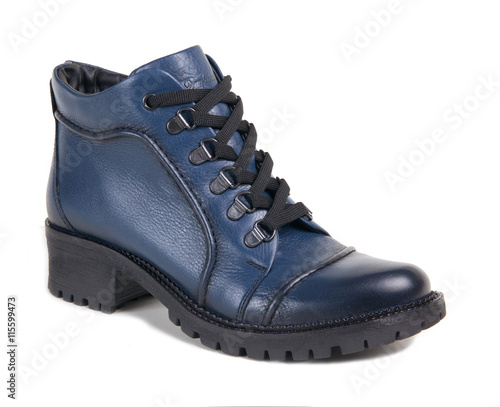 eba8433ede all-weather blue shoes isolated on a white background - Buy this ...