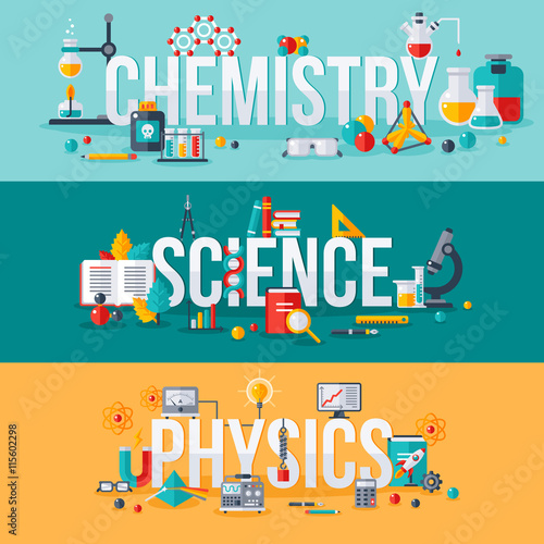 Chemistry, science, physics words Canvas-taulu