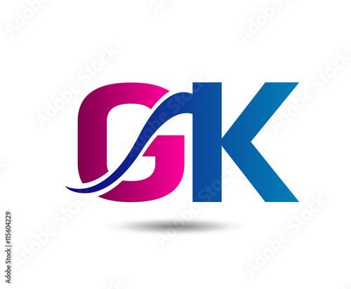 unusual g and k gk business logo template buy this stock vector rh stock adobe com gsk logo gk logistics