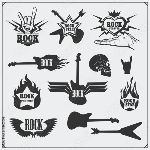 Rocknroll Music Symbols Labels Logos And Design Elements Buy
