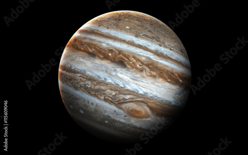 Fotomural  Jupiter - High resolution 3D images presents planets of the solar system