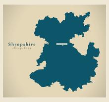 Modern Map - Shropshire Unitar...