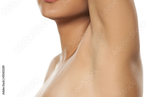 female well shaved armpit Canvas Print
