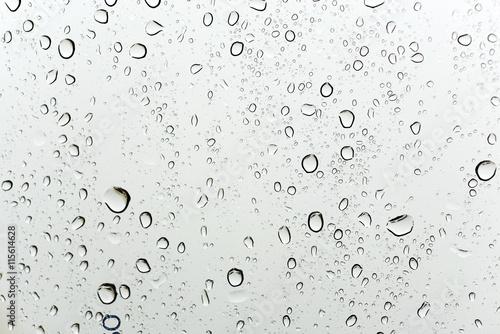 fototapeta na drzwi i meble Rain fall on mirror