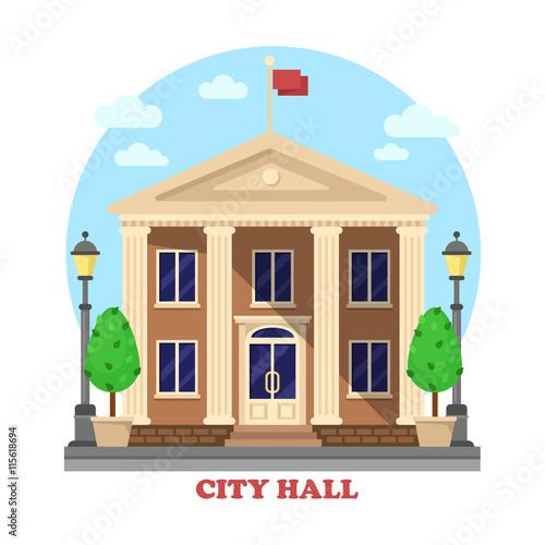 City hall architecture facade of building exterior Wallpaper Mural