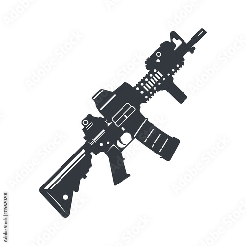 assault rifle vector Canvas-taulu