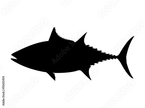 albacore tuna silhouette vector illustration buy this stock